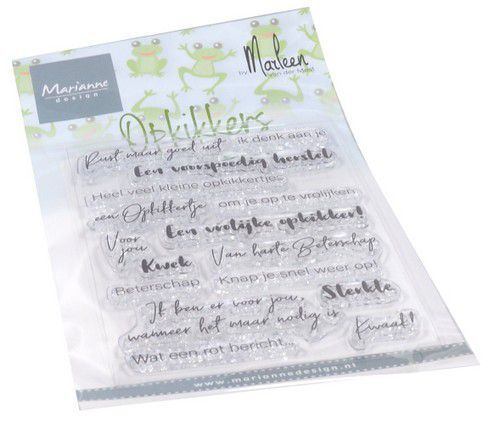 Marianne Design - Clearstamp - Opkikkers by Marleen