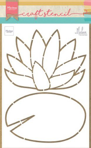 Marianne Design - Craft Stencil - Waterlily by Marleen