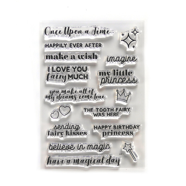 Elizabeth Craft Design - Storybook Collection - Once Upon a Time Sentiments Clearstamps