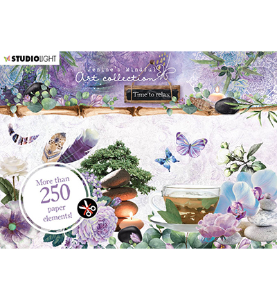 Studio Light - Jenine's Mindful Art Collection -Time to Relax - Die-Cut Block A6 (05)