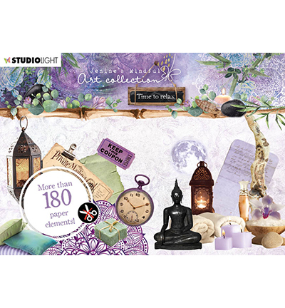 Studio Light - Jenine's Mindful Art Collection -Time to Relax - Die-Cut Block A6 (06)