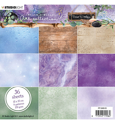Studio Light - Jenine's Mindful Art Collection -Time to Relax - Paperpad 15,2 x 15,2 cm - 10
