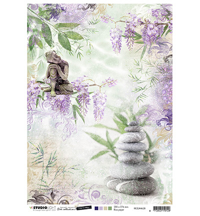 Studio Light - Jenine's Mindful Art Collection -Time to Relax - Rice Paper A4 - 28