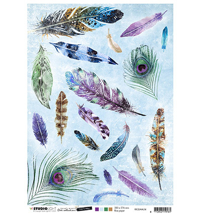 Studio Light - Jenine's Mindful Art Collection -Time to Relax - Rice Paper A4 - 34