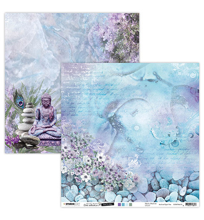 Studio Light - Jenine's Mindful Art Collection -Time to Relax - Scrappapier 30,5 x 30,5 cm - 10