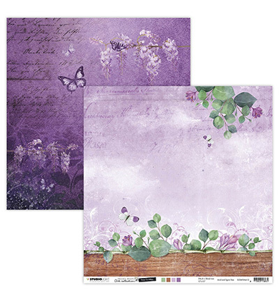 Studio Light - Jenine's Mindful Art Collection -Time to Relax - Scrappapier 30,5 x 30,5 cm - 12
