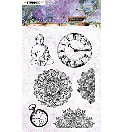 Studio Light - Jenine's Mindful Art Collection -Time to Relax - Clearstamp A6 - 17