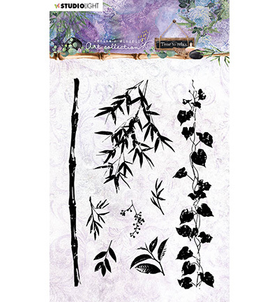 Studio Light - Jenine's Mindful Art Collection -Time to Relax - Clearstamp A6 - 19