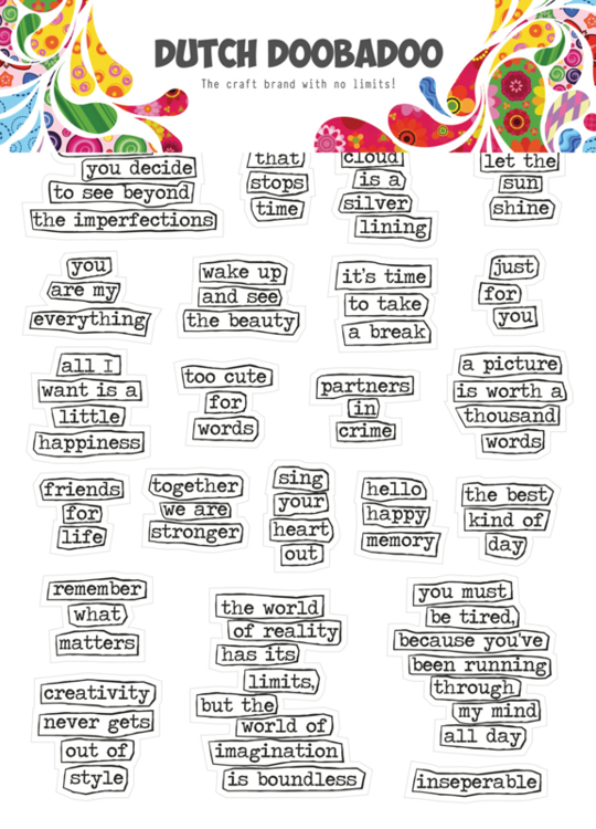 Dutch Doobadoo - Dutch Sticker Art - Doodle text