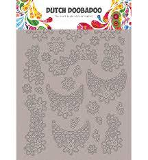 Dutch Doobadoo - Greyboard Art - Art Lace flowers