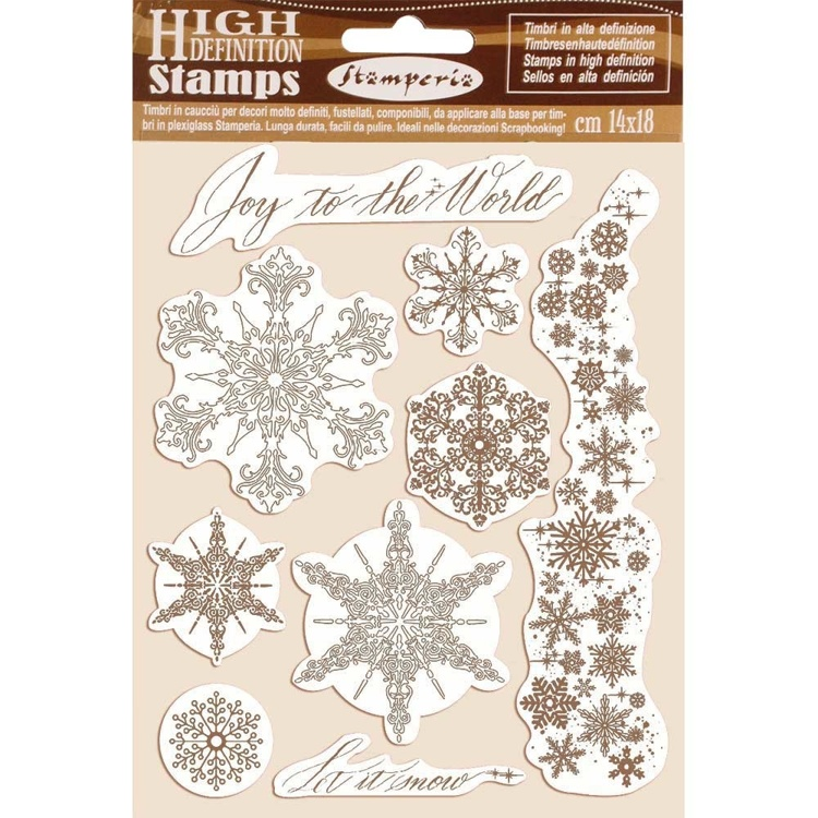 Rubber Stamp - Stamperia - Snowflakes