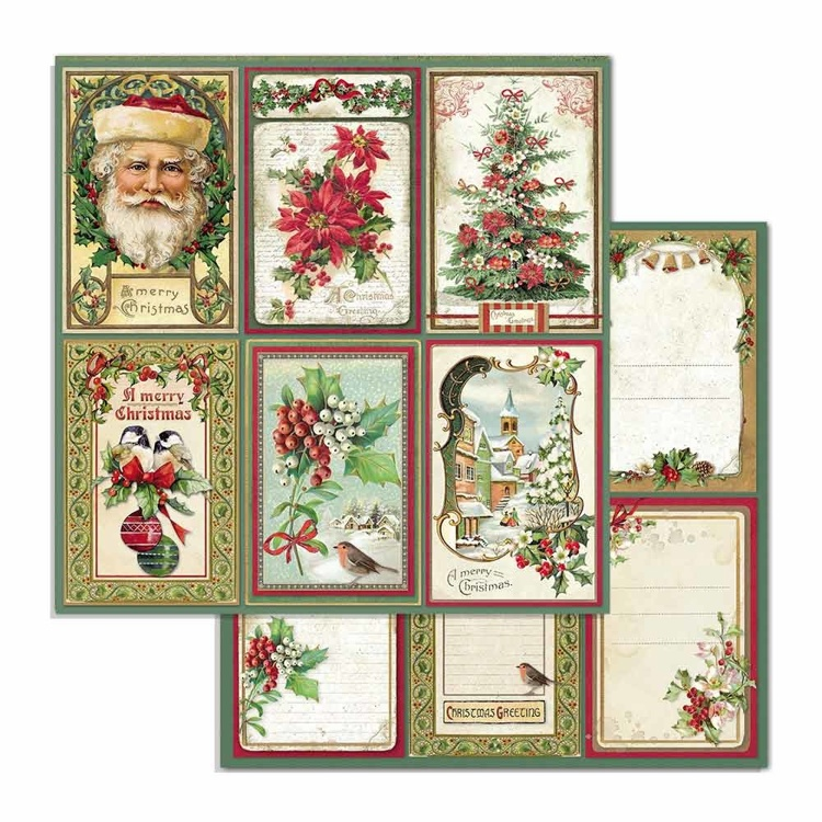 Paper Sheet Stamperia - 30,5 x 30,5 - Cards - Classic Christmas