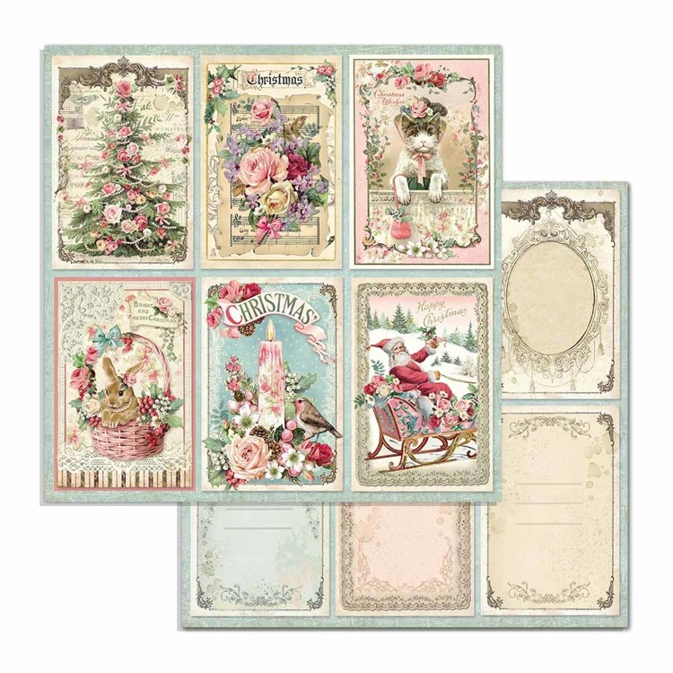 Paper Sheet Stamperia - 30,5 x 30,5 - Cards - Pink Christmas