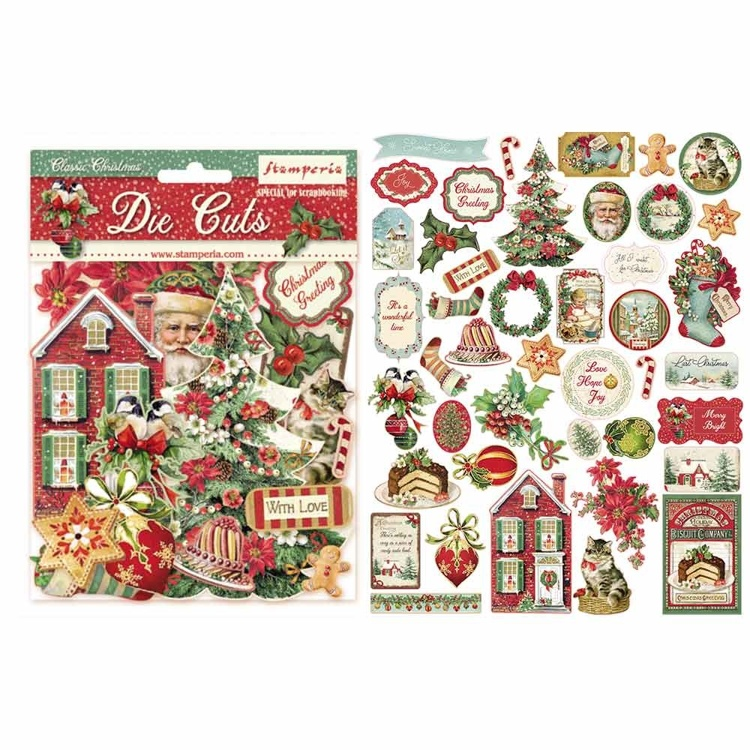 Stamperia - Die-Cuts - Classic Christmas
