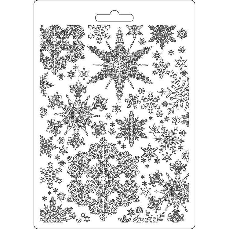 Stamperia - Soft Mould A5 - Snowflakes