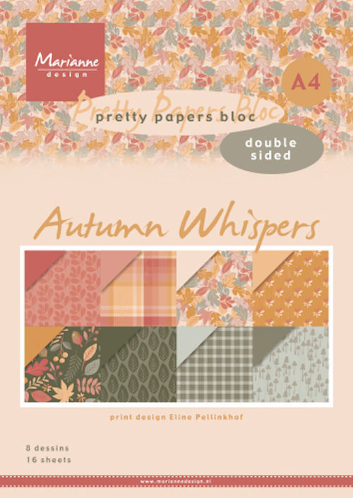 Marianne Design - Paperpad A4 - Eline's Autumn Whispers