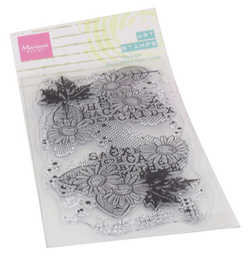 Marianne Design - Mixed Media - Clearstamp - Henriette Geurkink - Chrysant