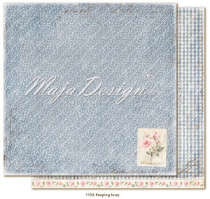Scrappapier Maja Design - Miles Apart - Keeping busy