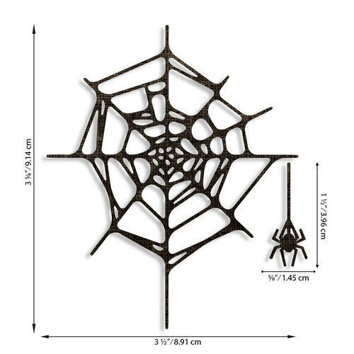 Sizzix - Thinlits Die set - Spider Web 2PK - Tim Holtz