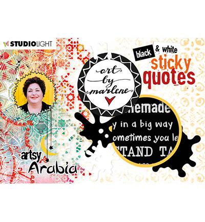 Studio Light - ART BY MARLENE - Artsy Arabia - Sticker Pad Quotes