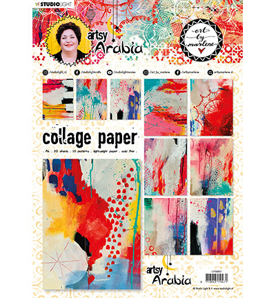 Studio Light - ART BY MARLENE - Artsy Arabia - Collage Paper CPBM07