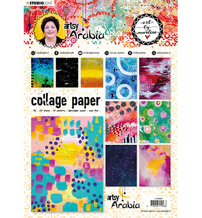 Studio Light - ART BY MARLENE - Artsy Arabia - Collage Paper CPBM08