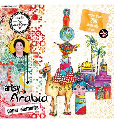 Studio Light - ART BY MARLENE - Artsy Arabia - Die-Cut block 01