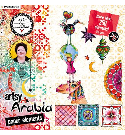Studio Light - ART BY MARLENE - Artsy Arabia - Die-Cut block 02