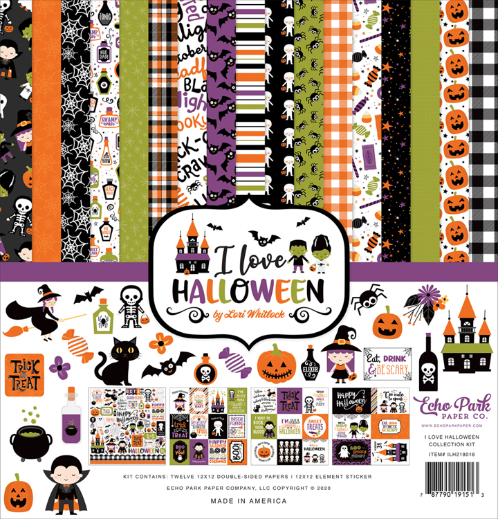 Echo Park - I love Halloween  - Collection Kit 30,5 x 30,5 cm