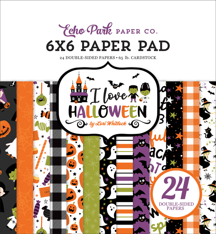 Echo Park - I love Halloween  - Paperpad 15.2 x 15.2 cm