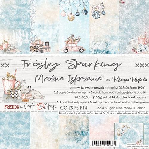 Craft O' Clock - Frosty Sparking - Paperpad 20,5 x 20,5 cm