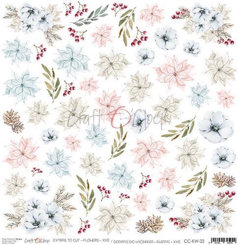 Craft O' Clock - Frosty Sparking - Extra's to cut flowers XXII