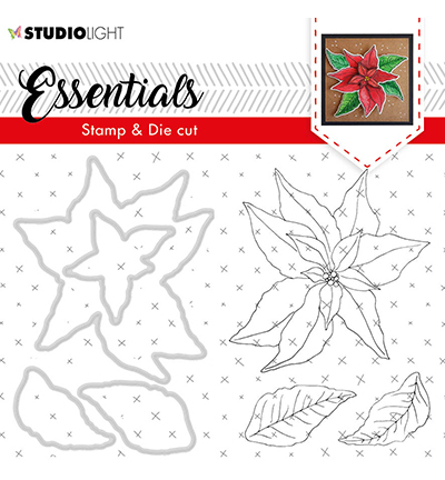 Studio Light - Stamp & Die Cut Set - Essentials - Christmas Rose nr.47