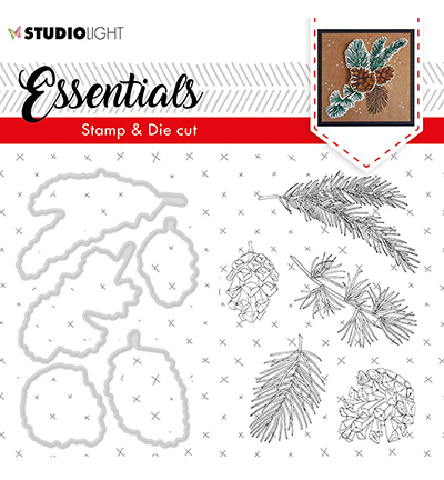 Studio Light - Stamp & Die Cut Set - Essentials - Christmas Rose nr.49
