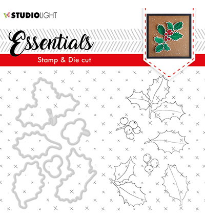 Studio Light - Stamp & Die Cut Set - Essentials - Christmas Rose nr.50