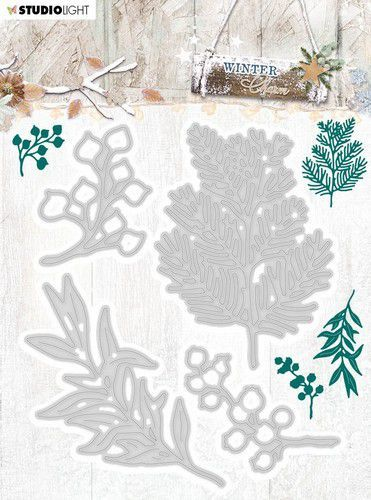 Studio Light - Winter Charm - Stansmal -  STENCILWC323