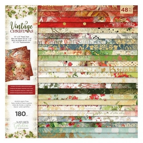 Crafter's Companion - Vintage Christmas - Paperpad 30,5 x 30,5 cm