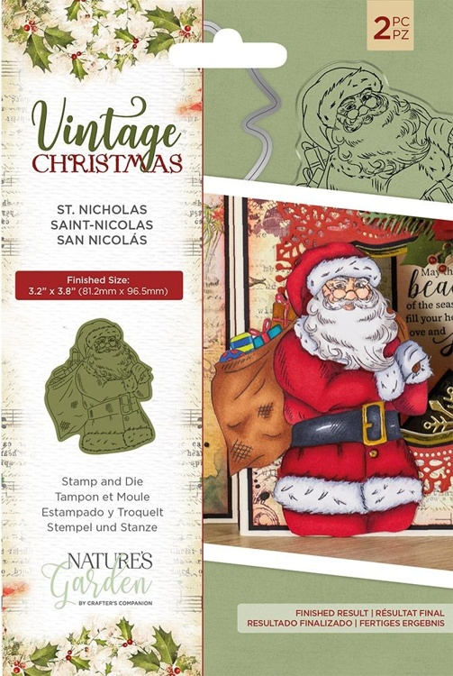 Crafter's Companion - Vintage Christmas - St.Nicholas Stamp & Dies