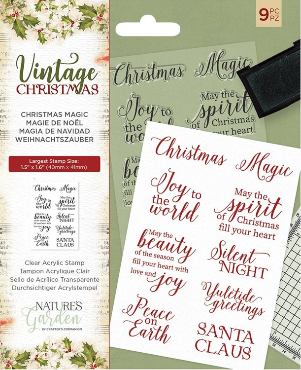 Crafter's Companion - Vintage Christmas - Christmas Magic Clear Stamps