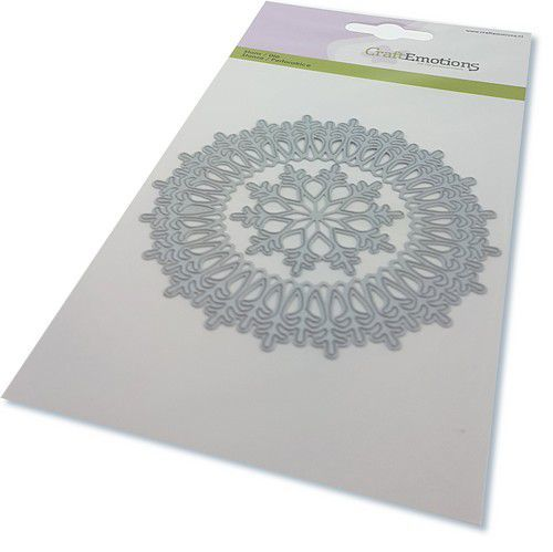 Stansmal CraftEmotions - border rond magic ice crystal