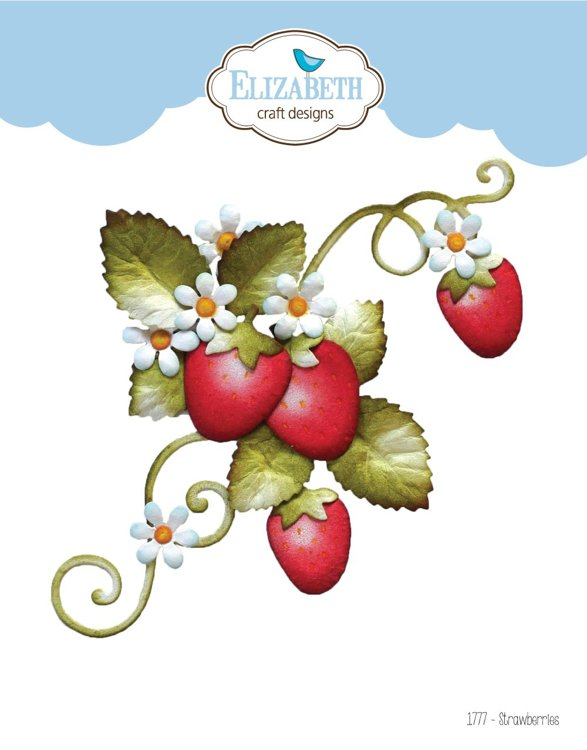 Elizabeth Craft Design - The Paper Flower Collection - Strawberries