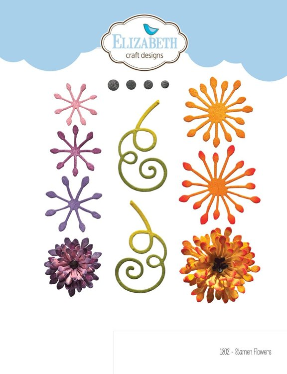 Elizabeth Craft Design - The Paper Flower Collection -Stamen Flowers