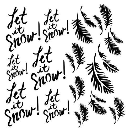 13@rts - Stencil Let it Snow - Dreamland