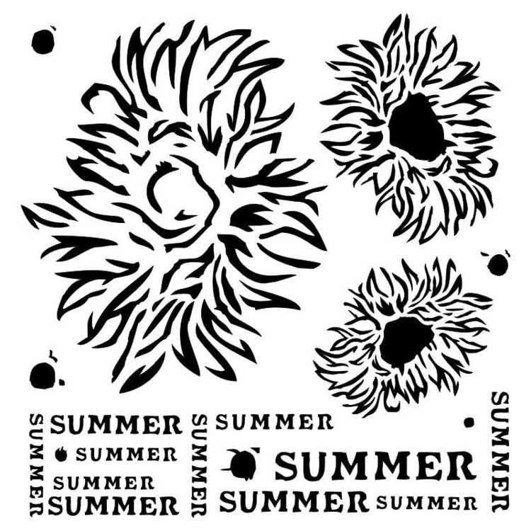 13@rts - Stencil Summer Flowers - End of Summer