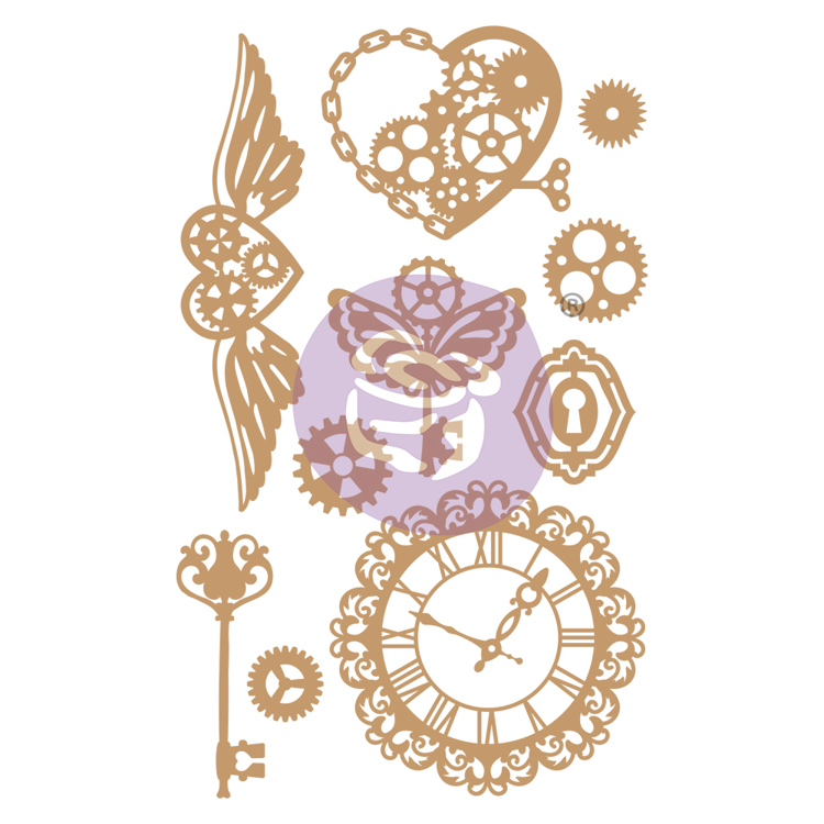 Prima Marketing - Chipboard Die-Cut - Mechanical Dreams -10 PCS