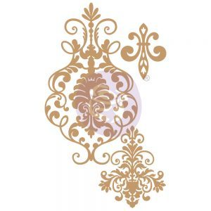 Prima Marketing - Chipboard Die-Cut - Elegant Damask - 3 PCS