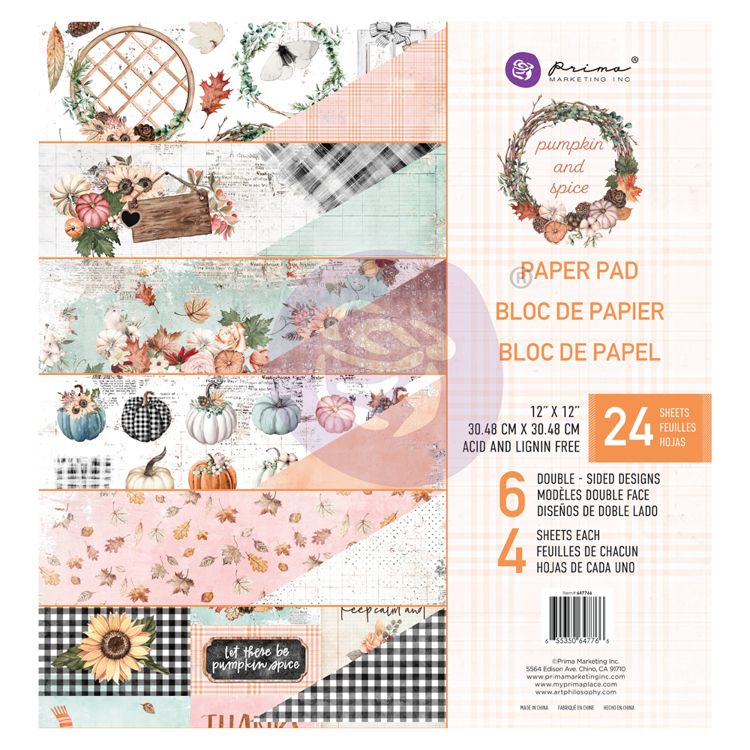 Prima Marketing - Paperpad 30.5 x 30.5 cm - Pumpkin & Spice