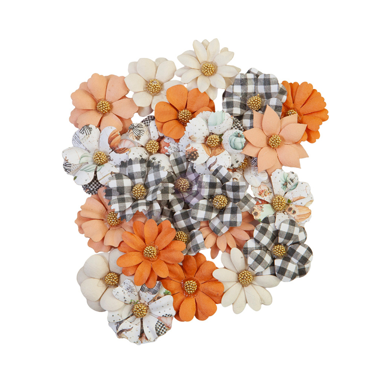 Prima Marketing - Flowers Warm Mittens - Pumpkin & Spice