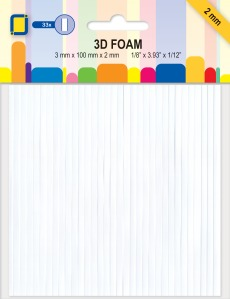 JeJe Produkts - Foam tape STRIPS 3mm x 100mm x 2mm (33st)