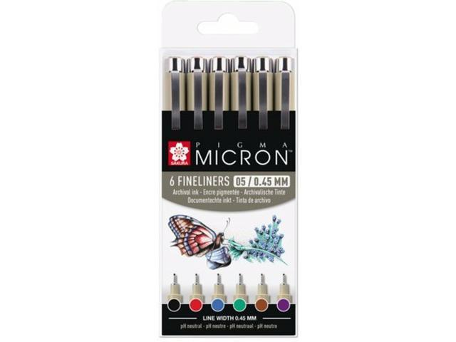 Sakura - Pigma Micron - 6pcs 0,45mm Basic colours